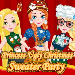 Princess Ugly Christmas Sweater Party