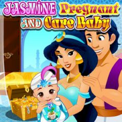 Jasmine Pregnant and Care Baby