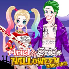 GAMES ONLINE FOR KIDS - Ariel and Erics Halloween Makeover