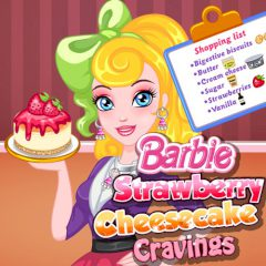 Barbie Strawberry Cheesecake Cravings