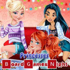 Princesses Board Games Night