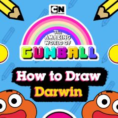 Gumball How to Draw Darwin