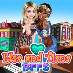 Elsa and Tiana BFFs