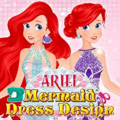Ariel Mermaid Dress Design