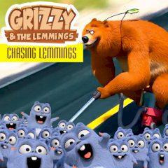 Grizzy & the Lemmings Chasing Lemmings