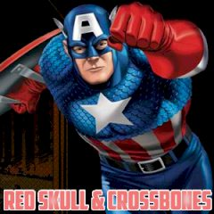 Captain America Red Skull and Crossbones