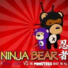 Ninja Bear & Purple Teddy vs the Monsters under the Bed